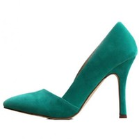 Green Shallow Mouth Shoes$66