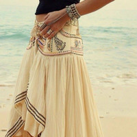 Asymmetrical Hem Beach Skirt