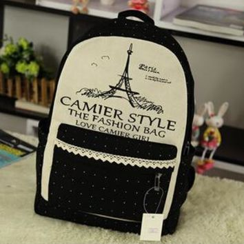 University College Backpack Lace Tower 2016 New Design Canvas Women   Student School Bags For Girls Leisure  Mochila Escolar CB096AT_63_4