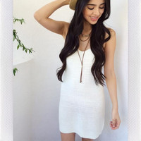 The Beach Knit Dress- Ivory