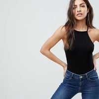 ASOS Cami with Square Neck in Fitted Rib at asos.com