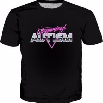 Weaponized Autism T-Shirt - Funny Meme 80s Aesthetic