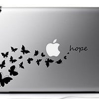 Butterfly Hope 13 Inch Vinyl Decal Sticker for MacBook Air Pro Laptop Notebook Auto Great Gift Mac PC Computer