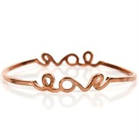 Rose Gold Love Signature Bracelet