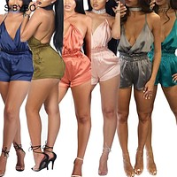 Jumpsuit Rompers Cross Bandage