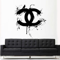 Wall Decal Vinyl Sticker Decals Art Decor Design Chanel Bird Logo Light Living room Bedroom Modern Mural Fashion Like Paintings (z3147)