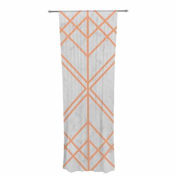 "Tobe Fonseca ""Art Deco Lines Pattern"" Pink Gray Geometric Modern Illustration Mixed Media Decorative Sheer Curtain"