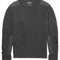 Yeezy x Adidas Originals - Distressed Ribbed Wool Sweater | MR PORTER
