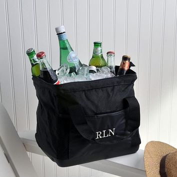 Personalized Wide-Mouth Ice Cooler Bag Free Monogram