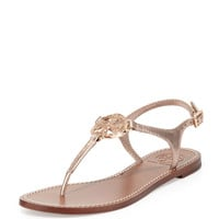 Violet Logo Thong Sandal, Rose Gold - Tory Burch - Rose gold