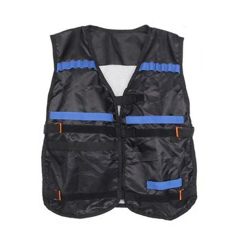 Hot Top Tactical Vest For 12 Darts and 4 Ammo Clips In Nerf Elite N Strike Games Black