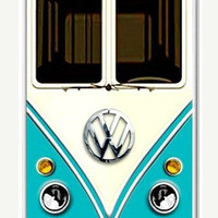 Personalized Cute kawaii blue mini bus volkswagen chrome logo Apple On iPhone 5 Case, iPhone Case-plastic Iphone cover-iphone 5 cover