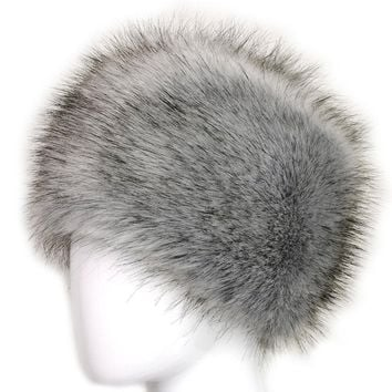 Russian Lady Women Faux Fox Fur Cossack Style Winter Warm Earflap Hat Beanie Cap -Y107