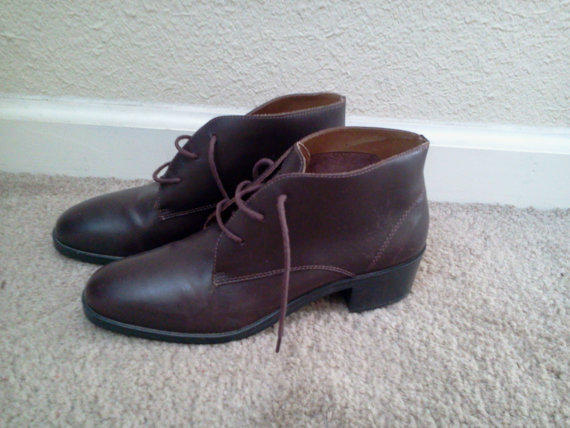 Leather Ankle Boots Womens Size 7.5