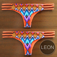 LEON BOTTOM - Handmade Reversible Brazilian-Cut Bikini Bottom