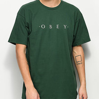 Obey Novel Forest Green T-Shirt | Zumiez