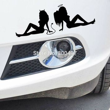 10 x Hot Lady Sexy Girl Angels and Demons Sticker Decoration Auto Decal for Tesla Toyota Chevrolet Ford Volkswagen Hyundai Lada