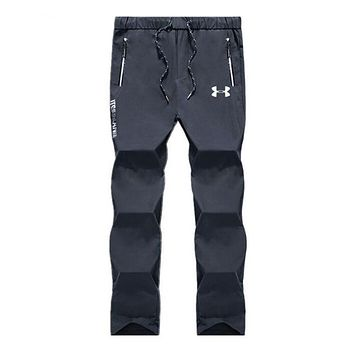 Under Armour Trending Men Stylish Pants Trousers Sweatpants Grey I13888-1