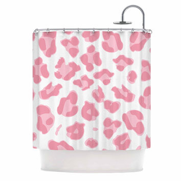 "Wildlife ""Pink Animal Print 2"" Pink Digital Shower Curtain"