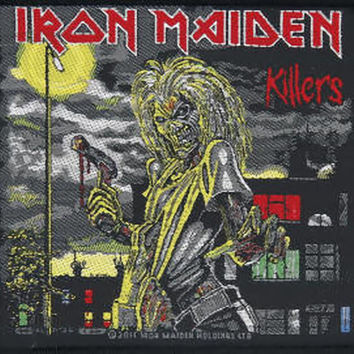 Iron Maiden Sew On Patch Killers Logo
