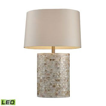 D1413-LED Trump Home Sunny Isles LED Table Lamp In Genuine Mother Of Pearl - Free Shipping!