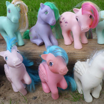 My Little Pony, 80s Toys,Vintage My Little Pony, MLP, G1 My Little Pony, Toy Lot,My Little Pony Lot, Toys For Girls, Unicorn,Retro Toys