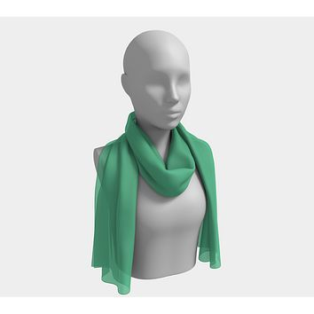 Solid Long Scarf - Light Green