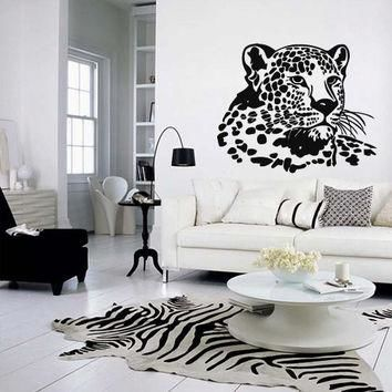 Wall decal vinyl art decor sticker design wild cat panther leopard puma jaguar lion an