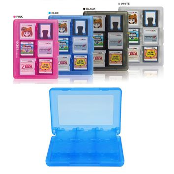 Colorful Durable Hard Plastic Case 28-in-1 Game Card Case For Nintendo for 3DS XL Holder Cover Cartridge Box