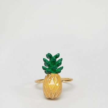 Limited Edition Pineapple Ring at asos.com