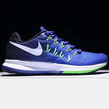 NIKE AlR ZOOM PEGASUS MAN Sport shoes sapphire blue-white hook H-PSXY