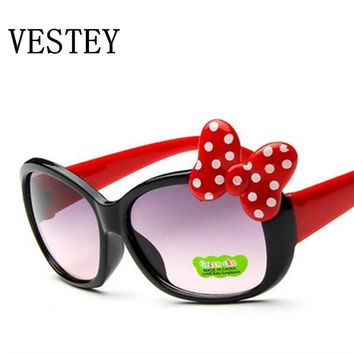 Children Polka-dot Bow Sunglasses