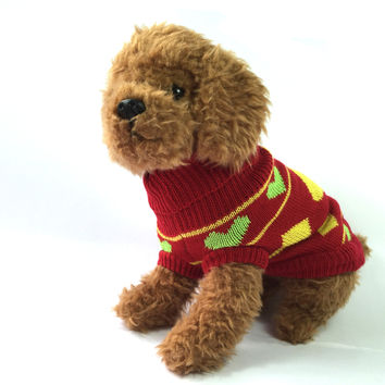 Candy Love Knit Dog Sweater