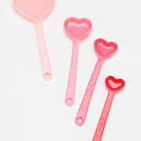 Heart Measuring Spoon - Set Of 4 - Urban Outfitters
