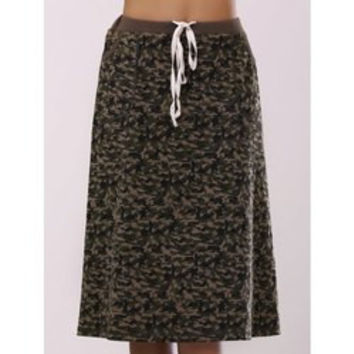 Fashionable Camo Printing Pocket Skirt For Women