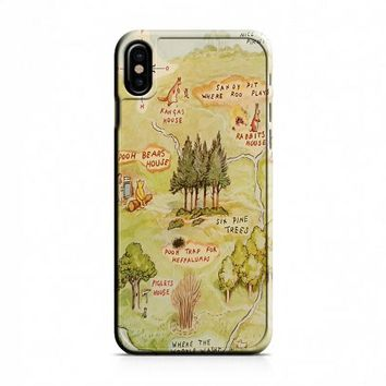 Winnie the Pooh Hundred Acre Woods Map iPhone X Case