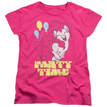 My Little Pony Womens T-Shirt Party Time Hot Pink Tee
