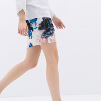 NEOPRENE PRINTED SKIRT