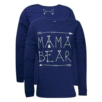 Southern Couture Lightheart Mama Bear Front Print Triblend Long Sleeve T-Shirt