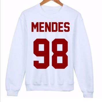 PEAPJ1A Fashionable English Sweater MENDES 98 red words