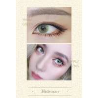 Aurora Series Hidrocor Color Lens - Yearly Disposable - Yellow Green