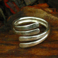 Sterling Wrap Around Ring by jujuandjules on Etsy