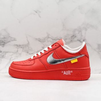 OFF-White x Nike Air Force 1 Red OW - Best Deal Online