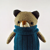 Super Cute Sock Teddy Bear Plushie in Blue