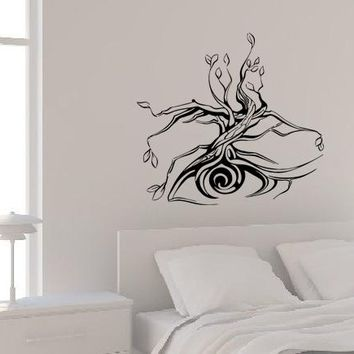 Wall Decal Tree Eye Abstraction Silhouette Plant Vinyl Sticker (ed1136)