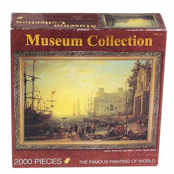 2000pcs/set Puzzles Famous Painting Creator's Oil Pictures Kit DIY Jigsaw Creative Scenery Beauty Christian Imagine Kids Adult