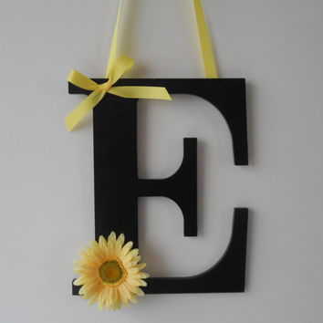 Painted Wooden Letter -  Initial - Hand Painted Letter - Wall Decor - Door Decor - Wreath - Wedding Decor - Graduation Gift