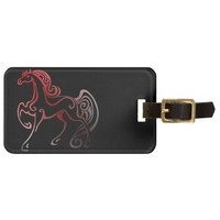 Horse Tails Bag Tag