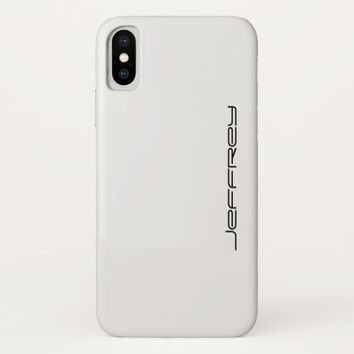 iPhone X Case, White and Black, Personalized iPhone X Case