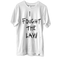 Kaviar and Cigarettes I Fought the Law Tee | NYLON MAGAZINE